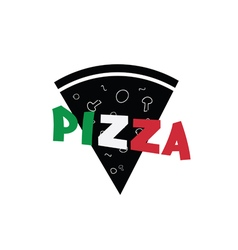 pizza slice italy vector image
