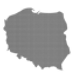 Poland map halftone icon vector