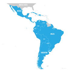political map of latin america latin american vector image