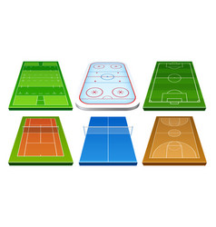 realistic badminton playground with net vector image