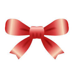 red bow on white background can be vector image
