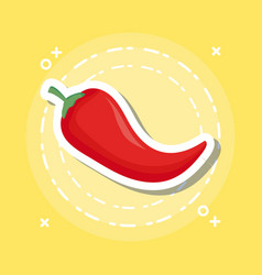 red chili icon vector image