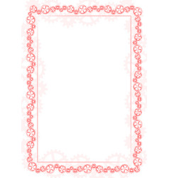 red frame and border with gear-type mechanism vector image