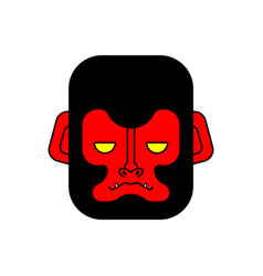 red gorilla face evil monkey head vector image