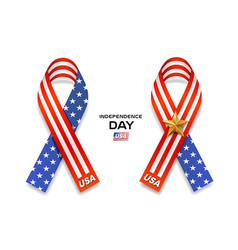 ribbons america flag collection design vector image