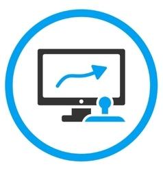Route Control Monitor Icon vector image