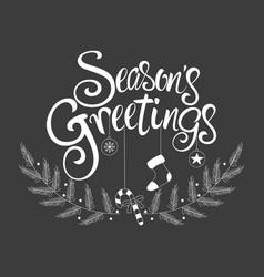 script font type seasons greetings vector image