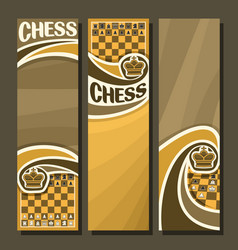 Set of vertical banners for chess vector