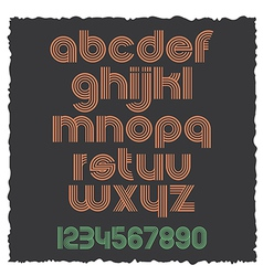 Small Letters retro style eps10 vector