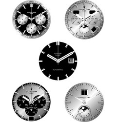 Smart watch faces vector