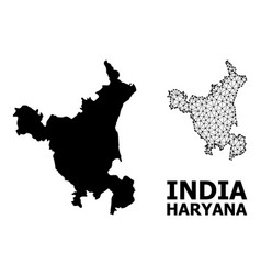 Solid and mesh map haryana state vector