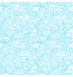 startup white seamless pattern vector image