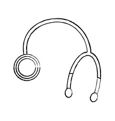 Stethoscope medical equipment healthcare object vector