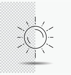 sun space planet astronomy weather line icon on vector image