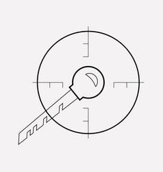 target keywords icon line element vector image