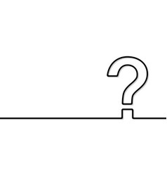 the question mark vector image