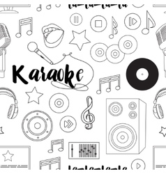 Theme of karaoke pattern vector
