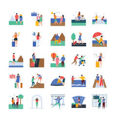 Travel and tourists vector