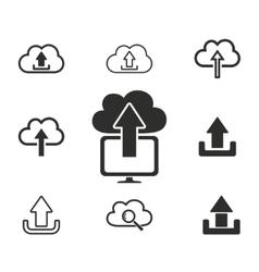 Upload icon set vector