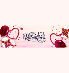 valentines day banner vector image