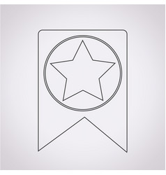 Web bookmark ribbon icon vector