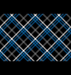 black check seamless diagonal fabric texture vector image
