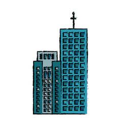 building facade company business icon vector image