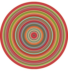 Concentric pipes circular shape in multiple colors vector