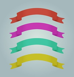 Festive ribbon for printing or banners vector image