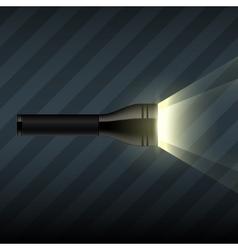 flashlight on dark striped background vector image