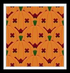 Halloween Pumpkin Seamless Pattern Background vector image