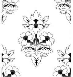 seamless a repeating flower pattern vector image vector image