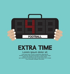 Extra Time vector image vector image