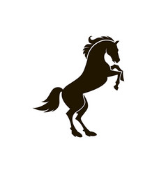 icon of horse silhouette vector image