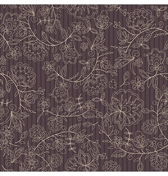 flower branch brown stripe background vector image