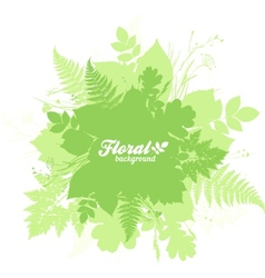 Green isolated foliage silhouettes trendy banner vector image