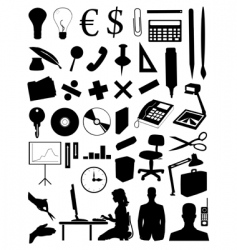 Office subjects vector