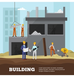 Building Background vector image vector image