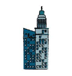building facade construction architecture icon vector image