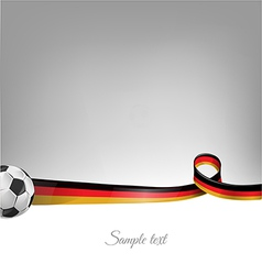 germany background with soccer ball vector image vector image
