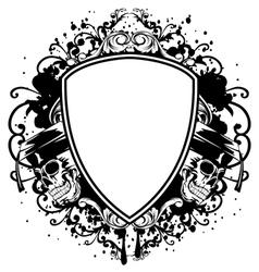 skulls in graduation cap and board vector image vector image