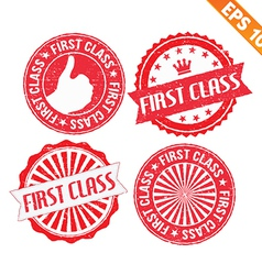 Stamp sticker first class collection - - EP vector image vector image