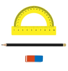 Stationery tools vector image