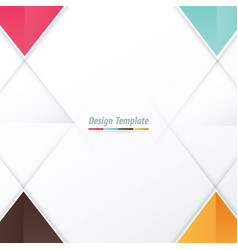template triangle design pink blue orange brown vector image vector image
