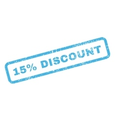 15 Percent Discount Text Rubber Stamp vector