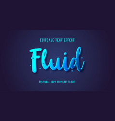 3d fluid text effect editable text vector
