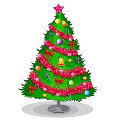A colorful christmas tree vector