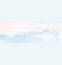 Abstract light blue and pink watercolor vector