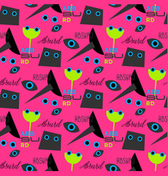 Absurd concept seamless pattern vector