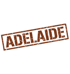 Adelaide brown square stamp vector